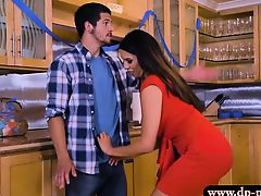 Luscious stepmom Missy Martinez gets pounded in the kitchen