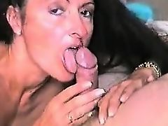 Cheating milf sucks fat cock at pov