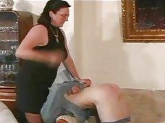 Granny Straps and Spanks the Boy pt3