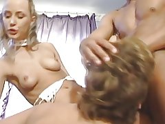 Bisexual Threesome MMF in the Kitchen
