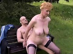 Fucking Granny In The Open Air !