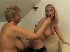Cute Tits Lesbian Licks Granny Till She Orgasms