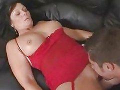 Hot Busty Brunette Mom Bangs Stepson