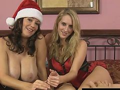 Big Tit MILF Charlee Chase Gives Santa an HJ!
