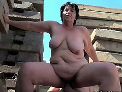 BBW granny works grandpa\'s small cock