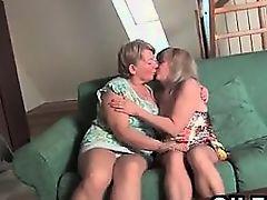 Lesbian Grandmas Get Naked And Lick