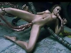 3D Monsters Gangbang Hot Babes!