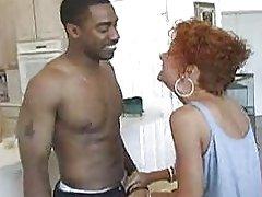 Mature redhead loves black cock