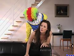 British milf pussyfucked by a clown