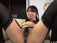 Demure asian gives wild oral-job before lusty pussy shaving