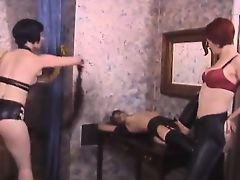 Sexbot - red-head spanked and tangled up - badjojocom