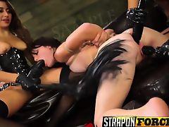 Femdom Lesbians In Stockings