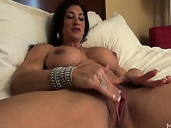 Hot Italian Plays with Her Hot Big Clit